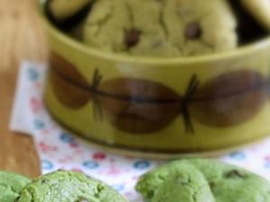 Cookies au Matcha et au chocolat
