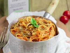 Spaghettis tomates à l'Origan