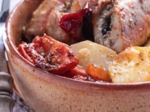 Pommes de terre rôties aux rougets