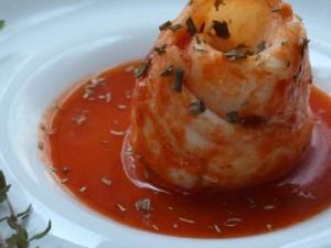 Médaillons de Limande en sauce tomate