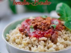 Blé sauce tomate-Basilic