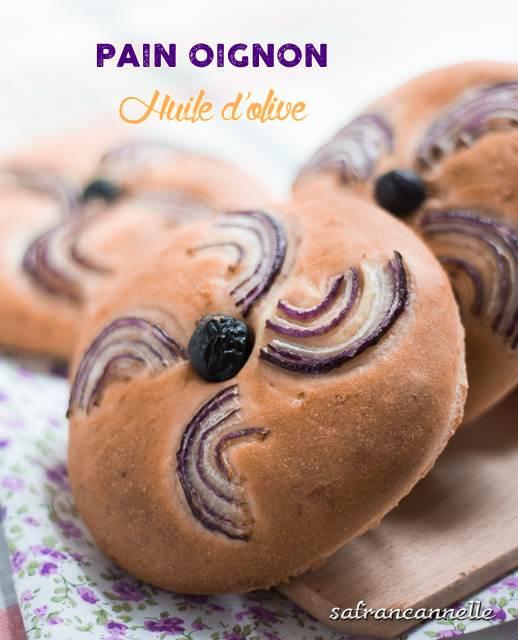pain àl'oignon et l'huiled'olive