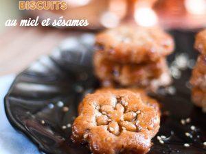 Biscuits au miel et sésames