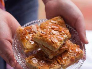 Gâteau au miel et aux amandes