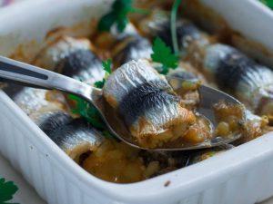 Filets de sardines roulés